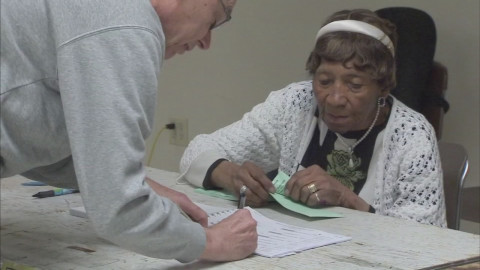 96 year-old pollworker