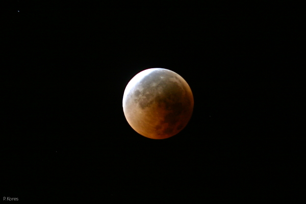 lunar eclipse, Aug. 28, 2007, partial