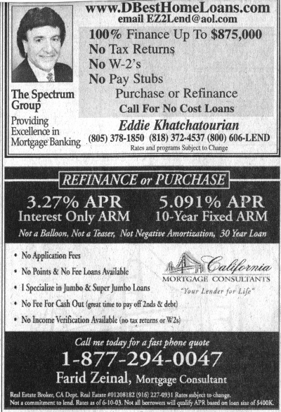 even sleazier mortgage lending ads from 2003