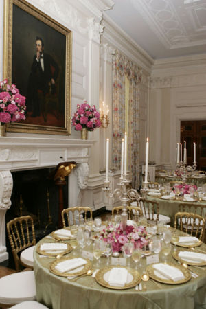 US White House state dining room during Bush Presidency