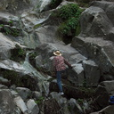 bryophyte-searching-pk-Satwiwa-waterfall-trail-Santa-Monica-Mts-2011-02-08-IMG 7048