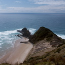 view-downslope-of-rocky-coast-Cape-Reinga-2015-09-08-IMG 1239