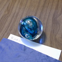 Karg-medium-sphere-bluish-large-irregular-bubbles--IMG 7313