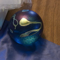 Robert-Held-Canada-medium-sphere-iridescent-blue-gold-tracings--IMG 7315