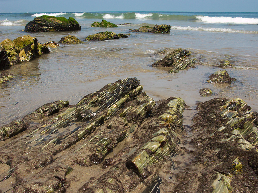 sedimentary-striated-rock-Point-Dume-tide-pools-2012-07-02-IMG 2176